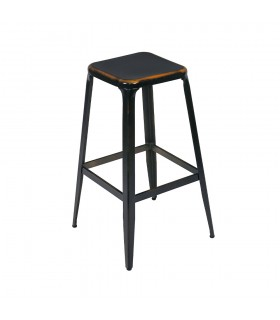 Tabouret CHARLY Black Brown